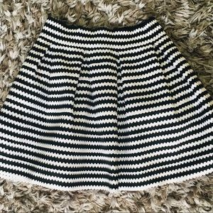 LIMITED TIME❗️EXPRESS Striped Bandage Skater Skirt